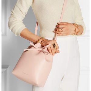 Mansur Gavriel Bucket Bag Matte Pink Leather